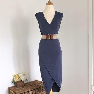 Flattering blue dress